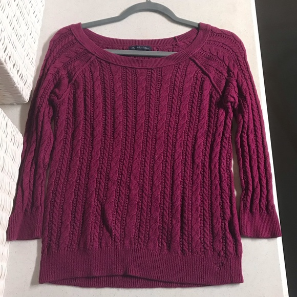 American Eagle Outfitters Sweaters - AEO Purple Knit Sweater
